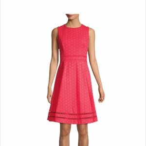 CK | NWT Sleeveless Eyelet Fit and Flare Dress